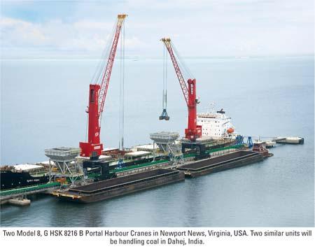 Portal Harbor Cranes