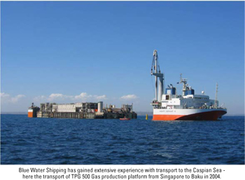Blue Water Shipping awarded challenging transport of jack-up