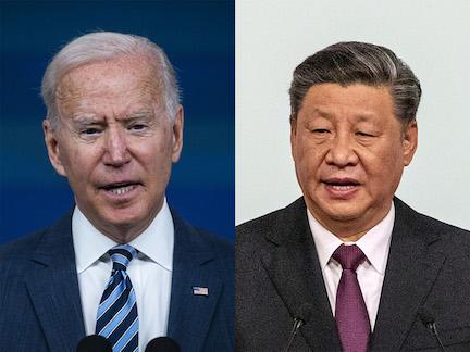 Presidents Joe Biden and Xi Jinping