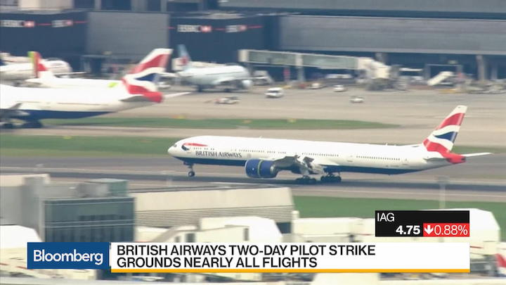 British Airways pilot strike holds firm as union calls for