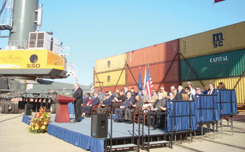 Stockton-Oakland Marine Highway ceremony highlights progress