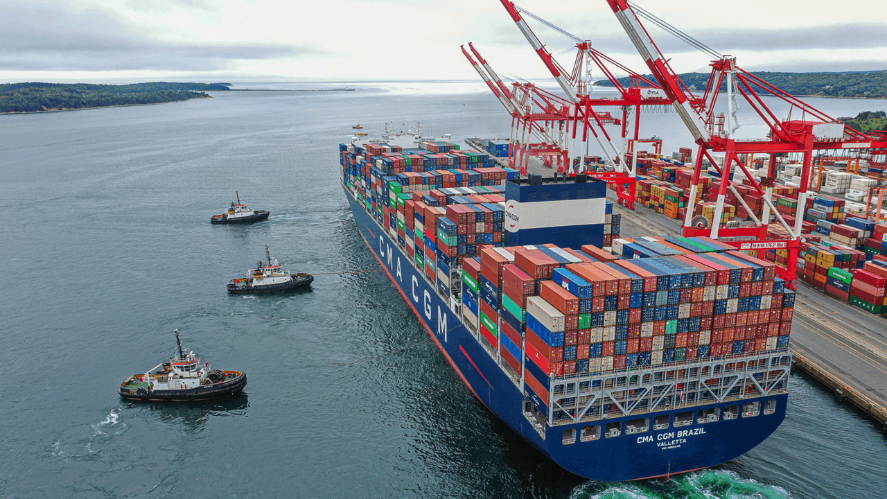 PSA Halifax receives the largest container vessel, the CMA CGM Brazil, to enter a Canadian port.