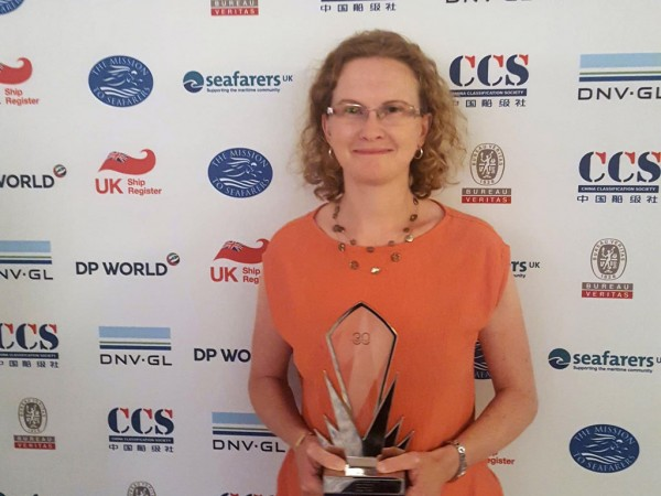 Carine Magdo with the Seatrade Clean Shipping Award