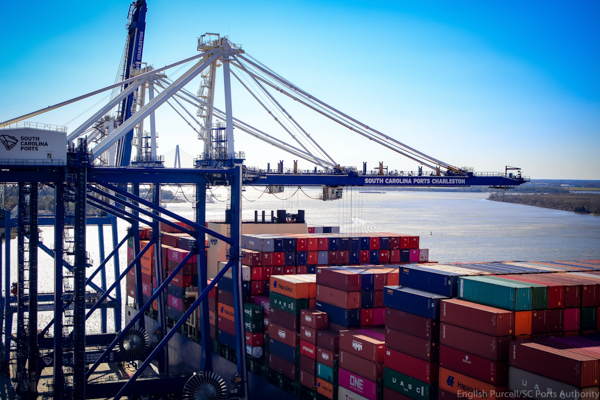 SC Ports keeps freight moving, recording a record May for containers handled at the Port of Charleston. (Photo/SCPA/English Purcell)