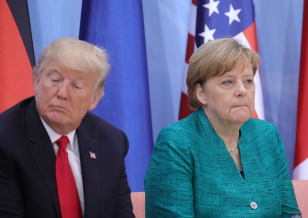 President Donald Trump and Chancellor Angela Merkel