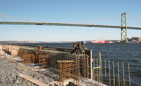 Construction proceeding at Richmond Terminals that will significantly increase breakbulk capacity in the Port of Halifax. (Photo credit: Steve Farmer)