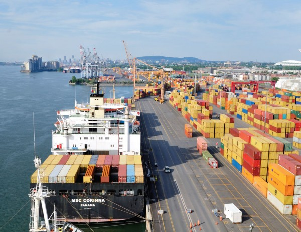 Container capacity is being expanded at the Port of Montreal whose box throughput remains robust.