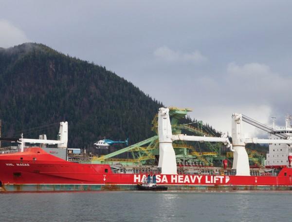 Hansa Macao docked at the Port of Prince Rupert, BC