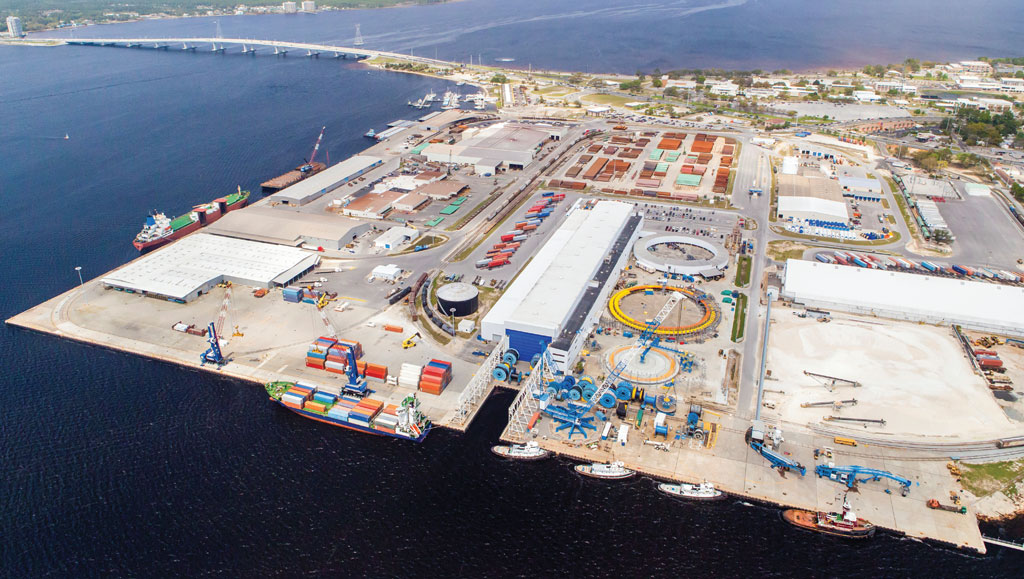 Port Panama City, which looks to develop a new forest products terminal on a separate waterfront site, already is a busy seaport on the Florida Panhandle
