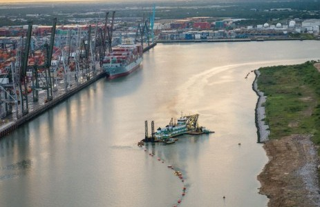 The Port of Houston's dredging at the Barbours Cut Terminal brings its alongside depth to 45 feet, matching the authorized depth of the Houston Ship Channel