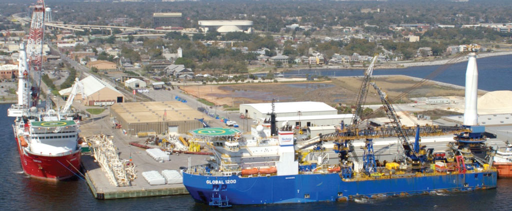At the west corner of Florida's Panhandle, Port Pensacola has emerged as a bustling hub for serving the Gulf of Mexico offshore oil and gas vessel sector.