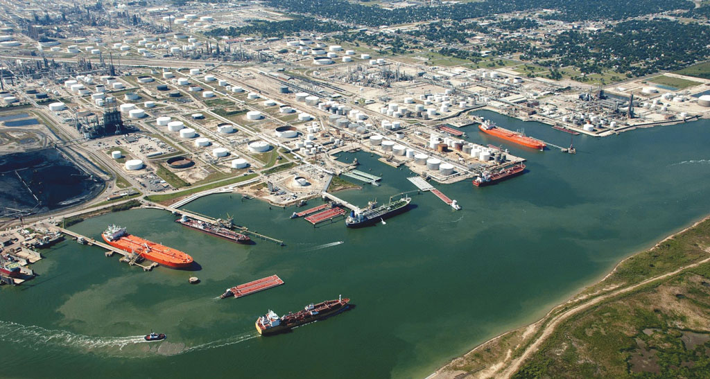 Even with the downturn of the U.S. oil and gas industry, the privately owned Port of Texas City keeps busy moving liquid bulk by water as well as rail
