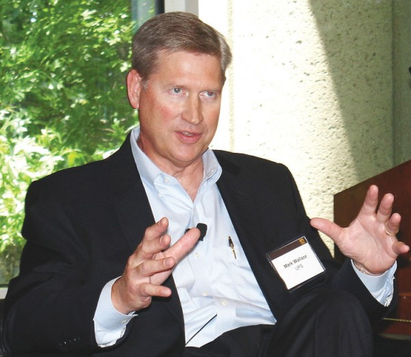 Mark Wallace, UPS senior VP for global engineering and sustainability, sees technology outlays as an investment. (Photo by Paul Scott Abbott, AJOT)