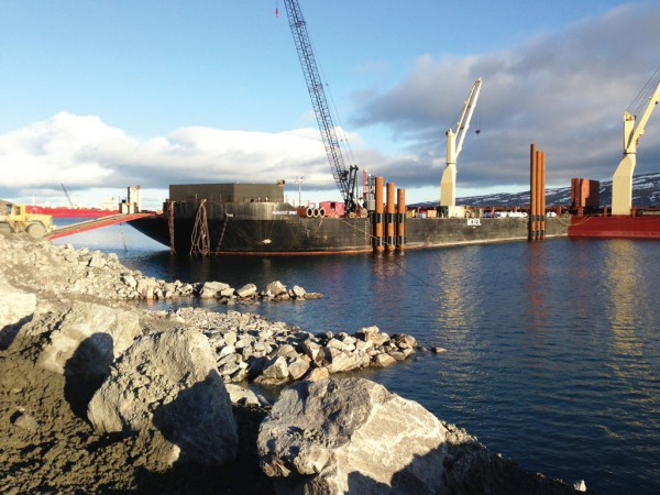 After providing a temporary dock for the Canadian Royalties nickel mine in Deception Bay, McKeil Marine delivered a 10-year solution using the Arctic dock barge. (see story on page 8)