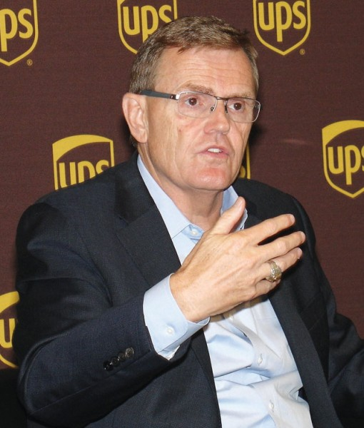 UPS Chairman and CEO David Abney explains that his firm is truly a technology company. (Photo by Paul Scott Abbott, AJOT)