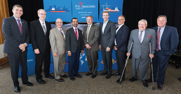 DP World and Port Saint John officials present at recent signing of the long-term lease.