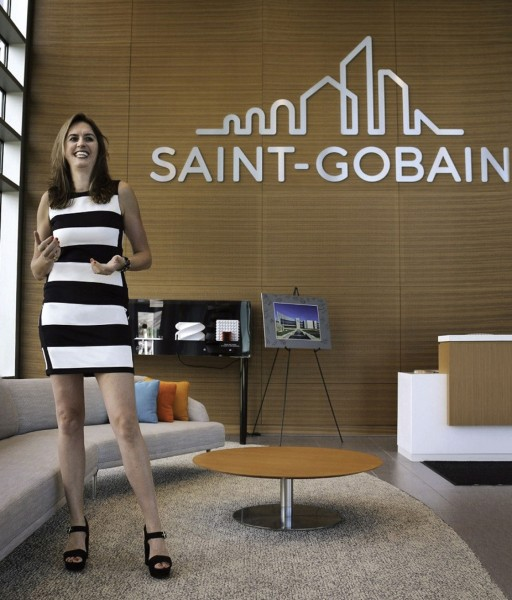 Elisabeth Fornés enjoys a towering presence as global supply chain and compliance manager for Saint-Gobain/CertainTeed.