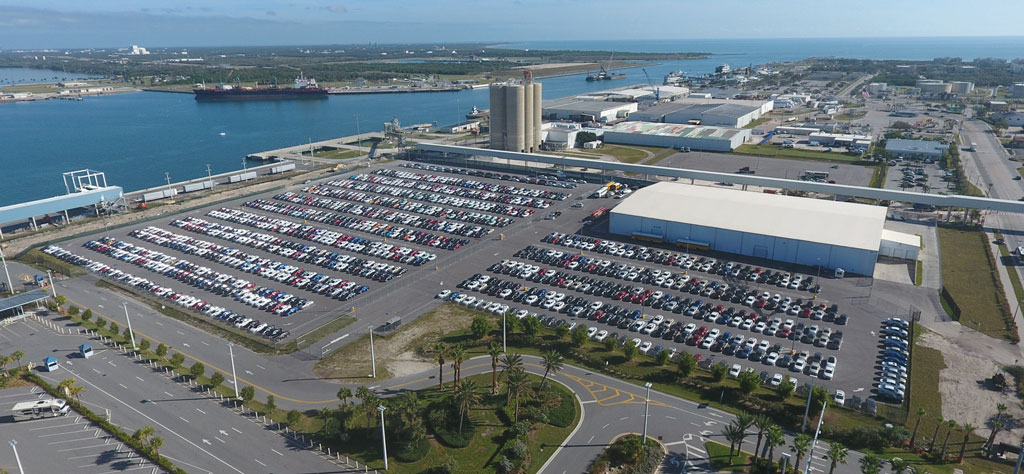 AutoPort Inc.'s vehicle operations at Central Florida's Port Canaveral encompass a 20,000-square-foot auto-processing building on a 16-acre tract.