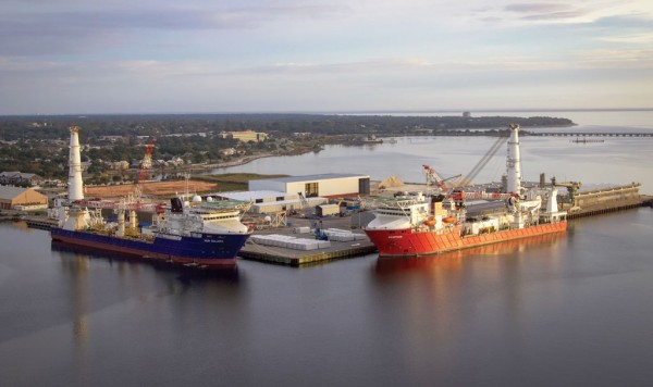 Despite an industry downturn, Florida's westernmost port, Port Pensacola, continues to serve the Gulf of Mexico offshore oil and gas vessel sector.