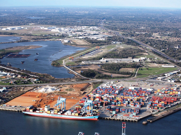 The already-busy APM Terminals Mobile container facility is being expanded to accommodate growth in Alabama State Port Authority containerized cargo activity.