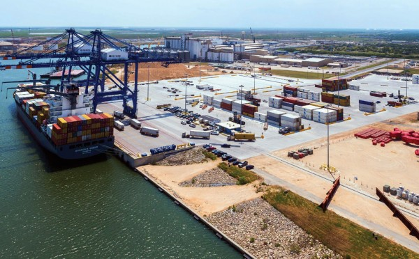 Port Freeport's Velasco Container Terminal, offering an 800-foot-long berth, two post- Panamax cranes and 26 acres of paved backland, is targeted for expansion.