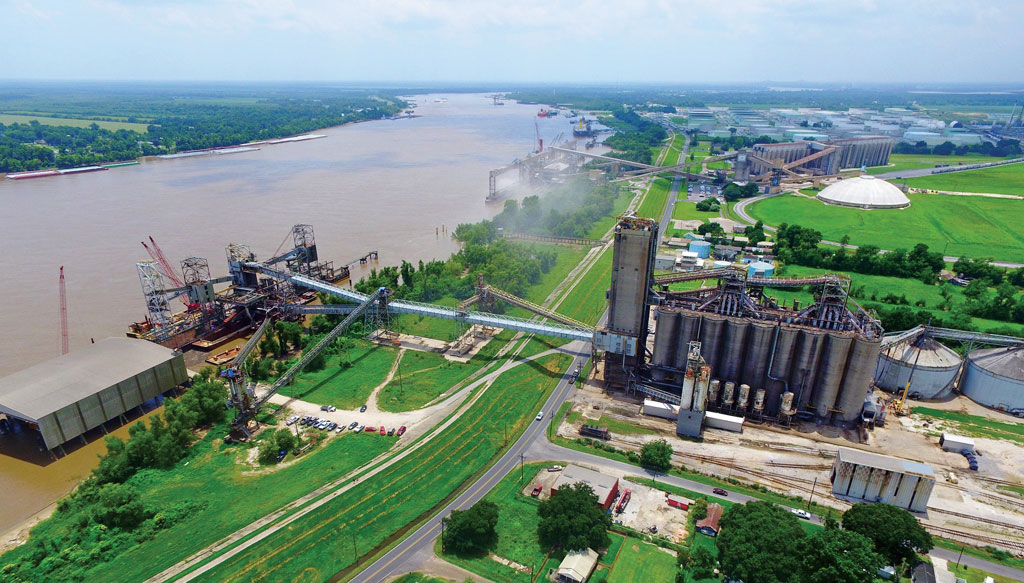 Diverse agricultural and petrochemical operations line the Mississippi River at the Port of South Louisiana, the Western Hemisphere's longtime No. 1 tonnage port.
