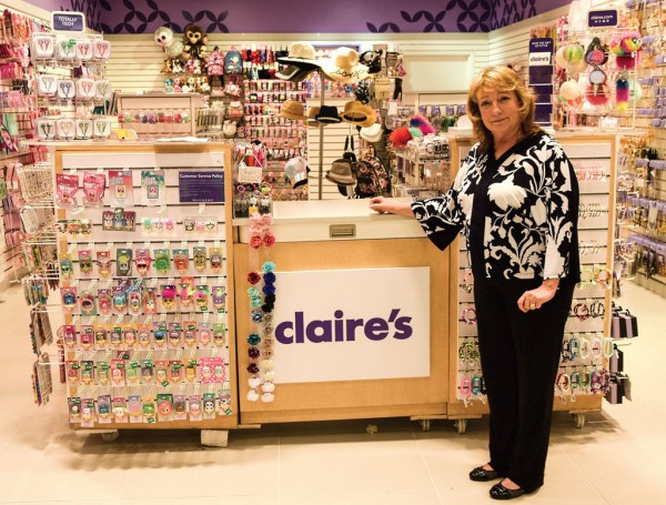 Deborah Winkleblack, Claire's Stores Inc.'s vice president of global supply chain, stops by one of the company's 3,200-plus retail locations.