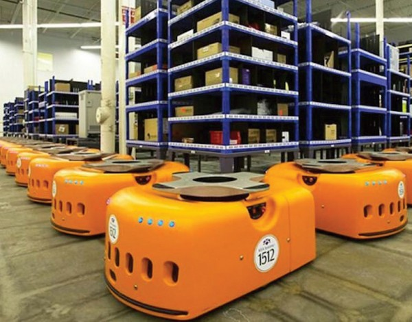 Amazon has pioneered the use of robots in its large warehouses