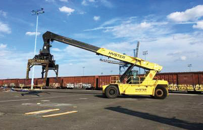 IEE specializes in forklifts over 15 tons in capacity and container handlers.