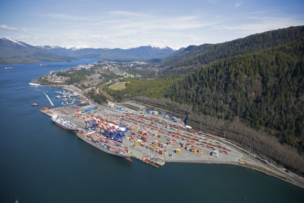 DP World's completed expansion of Fairview Container Terminal has significantly boosted box capacity at the Port of Prince Rupert. (photo: Prince Rupert Port Authority)