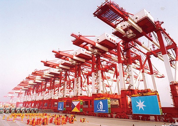 Qingdao New Qianwan Container Terminal is Asia's first automated terminal.