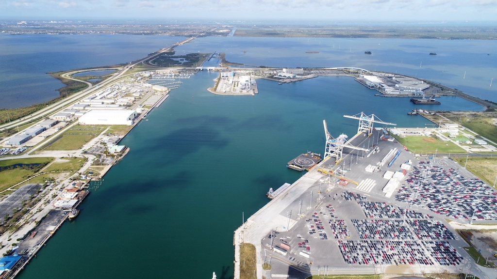 Deepening of Port Canaveral's West Turning Basin facilitates access for deeper-draft containerships calling the box terminal operated by GT USA.