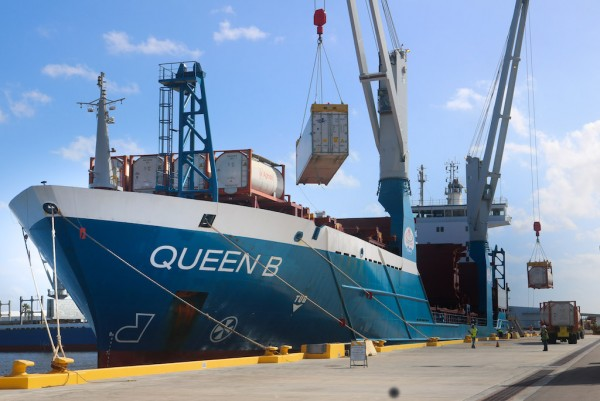 The Queen B is part of World Direct Shipping's expanding presence at Port Manatee, near the entrance to Tampa Bay.