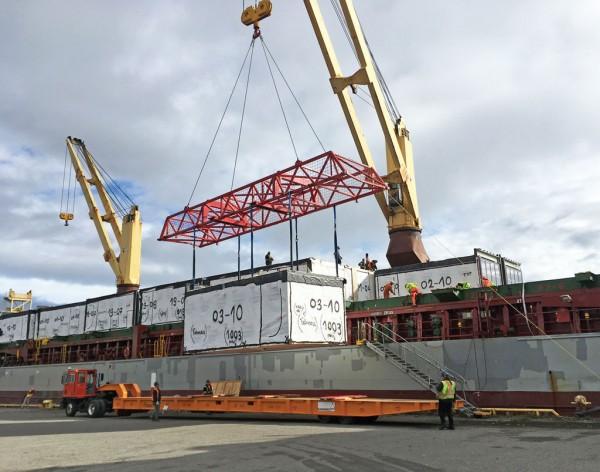 Hotel modules from Poland recently shipped to Calgary via Port of Thunder Bay.