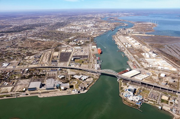 Port Corpus Christi eyes building upon its oil export prominence with a taller harbor bridge and deeper channel.