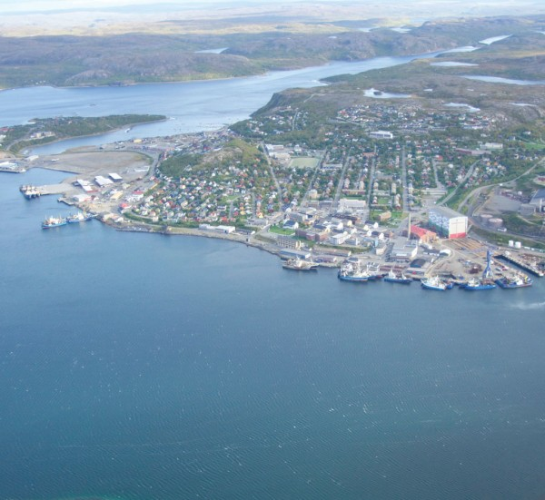 Norway's Kirkenes port is close to the Russian borders.