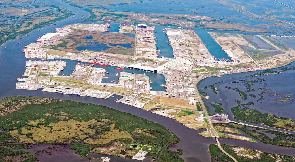 Development continues on Port Fourchon's expansive footprint, to serve tenants led by companies involved in offshore energy exploration and production.