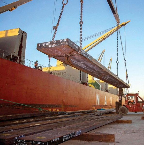 Steel remains a major cargo at the diverse Port of Brownsville, situated just north of the U.S. border with Mexico.