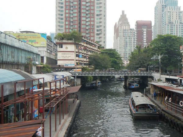 The canal in Bangkok, Thailand