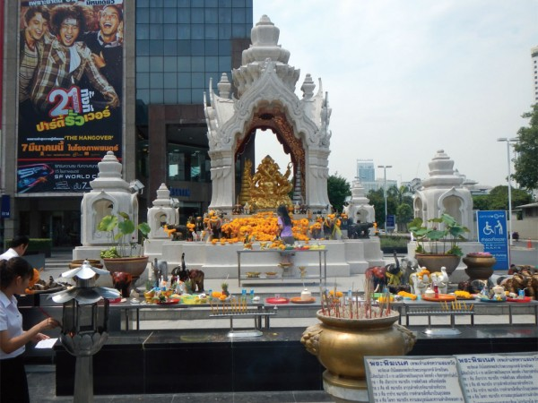 A Buddhist shrine in Bangkok, Thailand