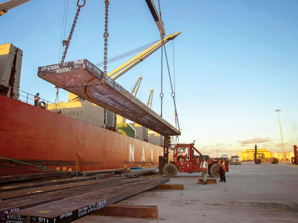 Steel remains a major cargo at the diverse Port of Brownsville.