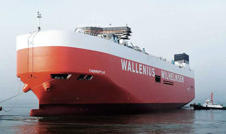 Wallenius Wilhelmsen Ocean took delivery on the first of four high efficiency Ro-Ro vessels.