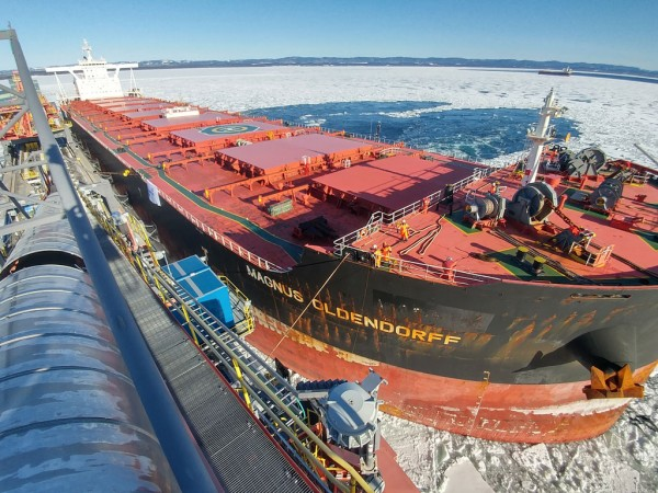 New era launched for Port of Sept-Iles with recent arrival of the Magnus Oldendorff at the newly-built multi-user dock where it loaded 190,000 tons of iron ore.