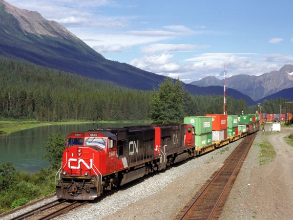 Canadian National Railway's multibillion-dollar investments include additions of more than 60 miles of double track and hundreds of new locomotives.
