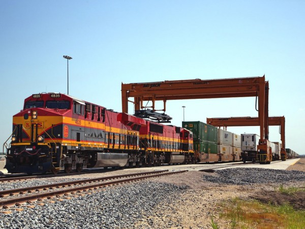 Kansas City Southern's intermodal terminal at Wylie, Texas, is undergoing a capacity-doubling expansion with addition of two more operating tracks.