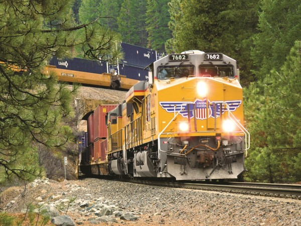 Union Pacific's domestic and international intermodal volumes are on the rise due to U.S. economic strength and increasing road-to-rail conversions.