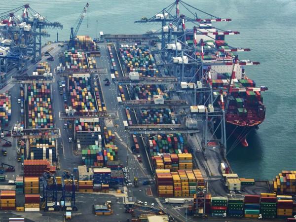 Aerial view of the Port of La Spezia, Italy