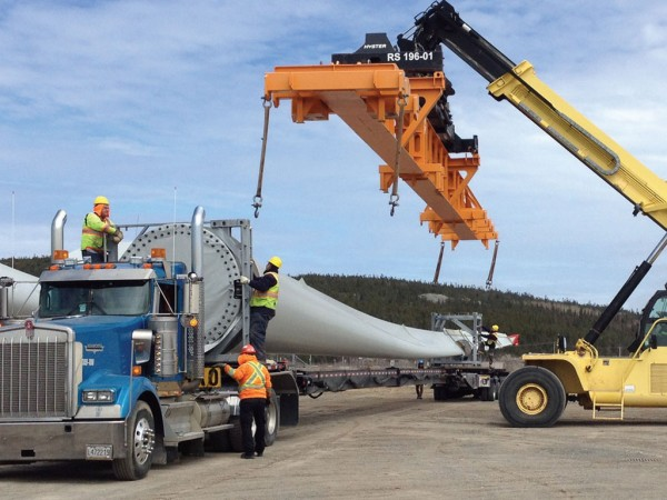 Preparing wind turbines for transport