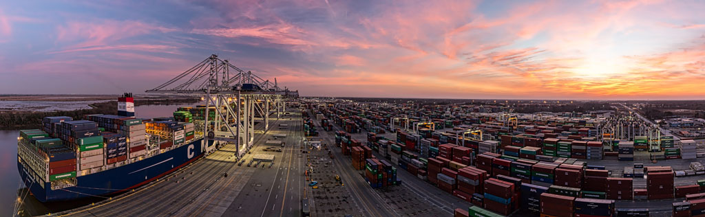 Encompassing 1,200 acres, the Port of Savannah's Garden City Terminal is poised to see continuing gains in activity at what is billed as North America's busiest single containerized cargo facility.