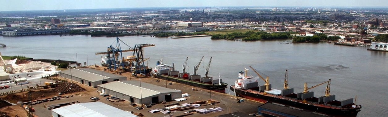 South Jersey Port Corp.'s Joseph A. Balzano Marine Terminal is a hub for handling breakbulk and bulk commodities on the Camden waterfront, across the Delaware River from Philadelphia.